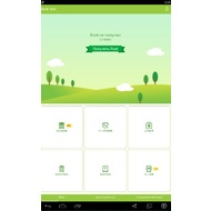 The dark-green ribbon is in the upper part of Baidu Root screen