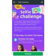 Selfie challenge tab in Photo Grid