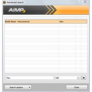 Advanced search in AIMP