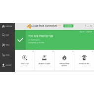 Overview screen of Avast Free Antivirus 2015