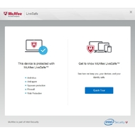 Start screen of McAfee LiveSafe