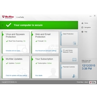 Manage security in McAfee LiveSafe