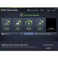 The main screen of AVG AntiVirus Free