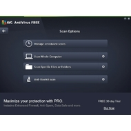 Scan options in AVG AntiVirus Free