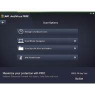 Scan options in AVG AntiVirus Free