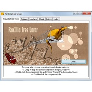 The main screen of RarZilla Free Unrar