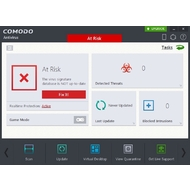 The main screen of Comodo Antivirus