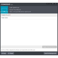Scanning screen of Comodo Antivirus
