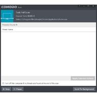 Scanning mode in COMODO Internet Security