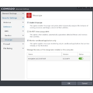 Settings of COMODO Internet Security