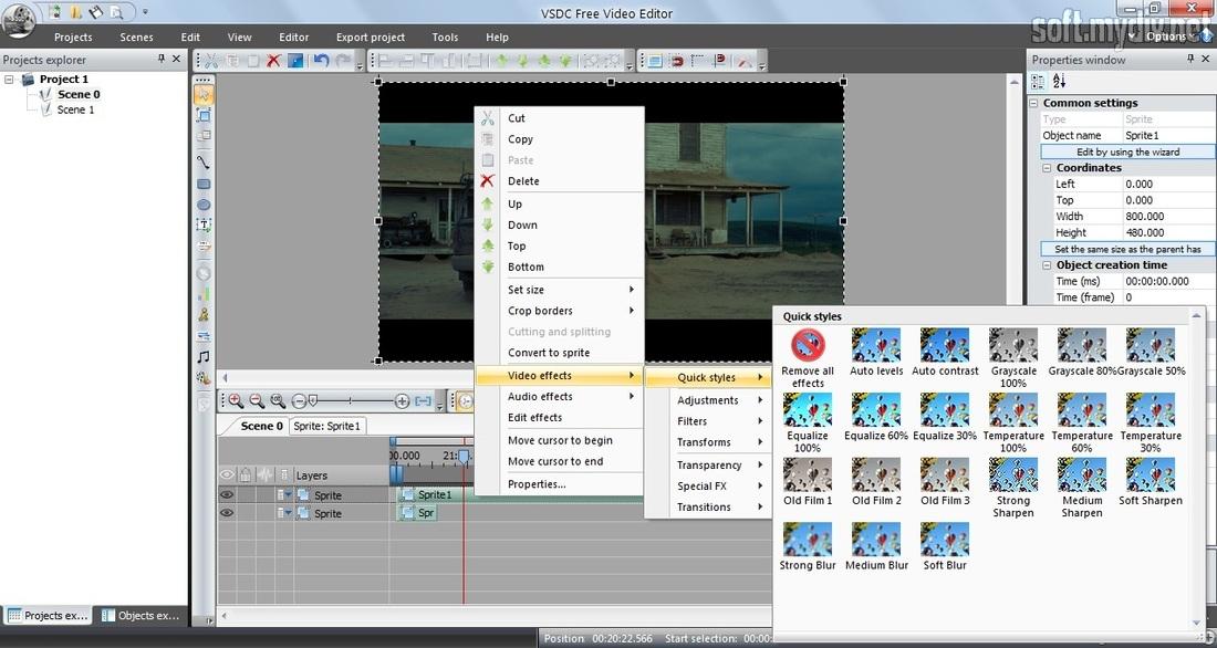 VSDC Free Video Editor - download program VSDC Free Video Editor for