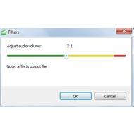 Adjust audio volume in Free Video Editor