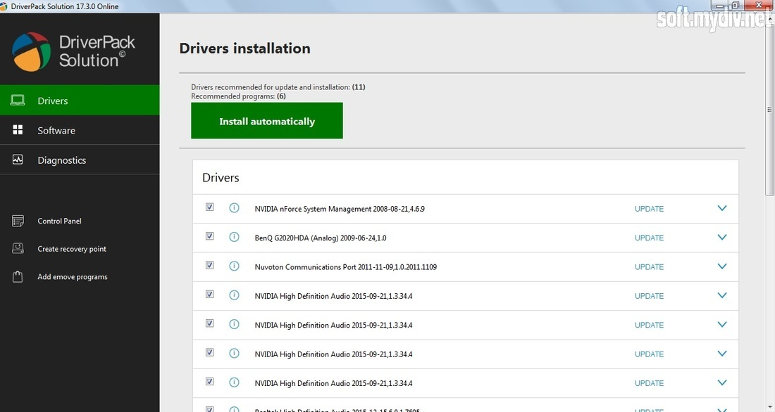 driverpack solution online audio driver