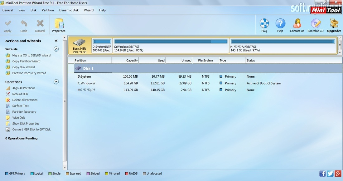 minitool partition wizard bootable cd 9.1