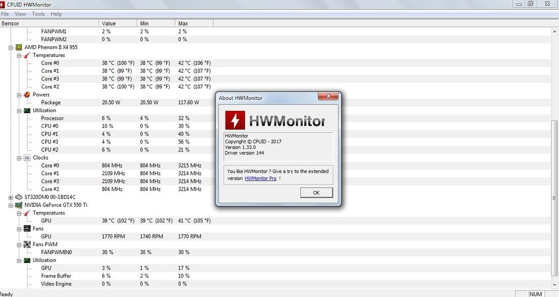 HWMonitor - download program HWMonitor for free